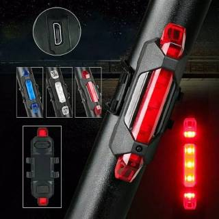 Lampu Belakang LED USB Rechargeable Sepeda/ Bike/Cycling Taillight