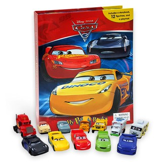 (HB) My Busy Book Disney Pixar Cars 3 includes a Storybook, 12 Toy Figurines and a Giant Playmat