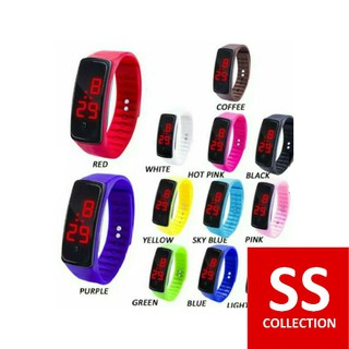 SS COLLECTION [1KG = 65PCS] - Jam Tangan LED Strap Karet Jam Tangan Digital Jam Tangan Sport