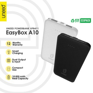 UNEED EasyBox A10 Powerbank 10000mAh Smart Charging 2.4A – UPB411