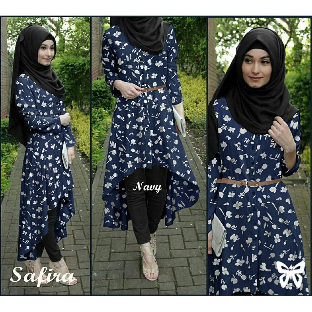 ZR1466 Hijab Safira Flowy Bubble Crep 4in1