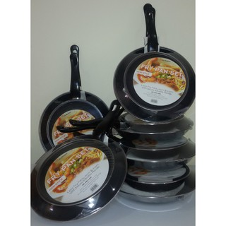 MASPION Frypan Fancy Set 2pc - 18cm dan 23cm Teflon WARNA dan HITAM Murah Meriah