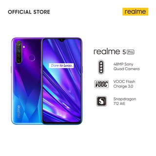 realme 5 Pro 4/128GB [Prosesor Qualcomm Snapdragon 712, 48MP AI Quad Camera, VOOC Flash Charge 3.0]