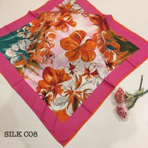 BEST SELLER Jilbab Silk Sutra Hijab Motif Bunga