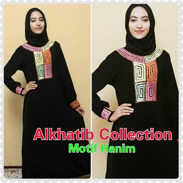 Abaya Motif Hanim / Abaya Arab / Baju Muslim / Baju Muslimah