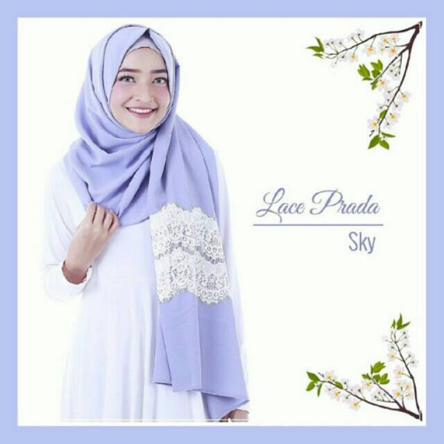 Lace Prada Instant Comfortable Hijab