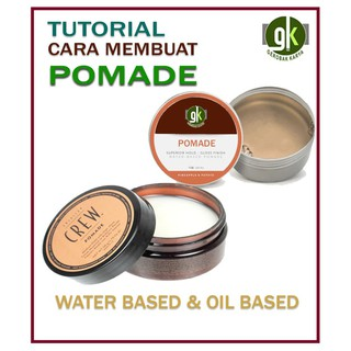 CARA MEMBUAT POMADE   Water Based   Oil Based   Tutorial  Murah