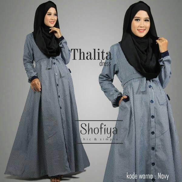 ori Busana Muslim Wanita Gamis Katun Thalita Dress Ori ATP