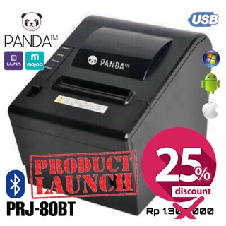 PRINTER BLUETOOTH POS ANDROID/IOS KASIR THERMAL 80MM PANDA PRJ-80BT (USB/RJ11 BUAT LACI CASH DRAWER)