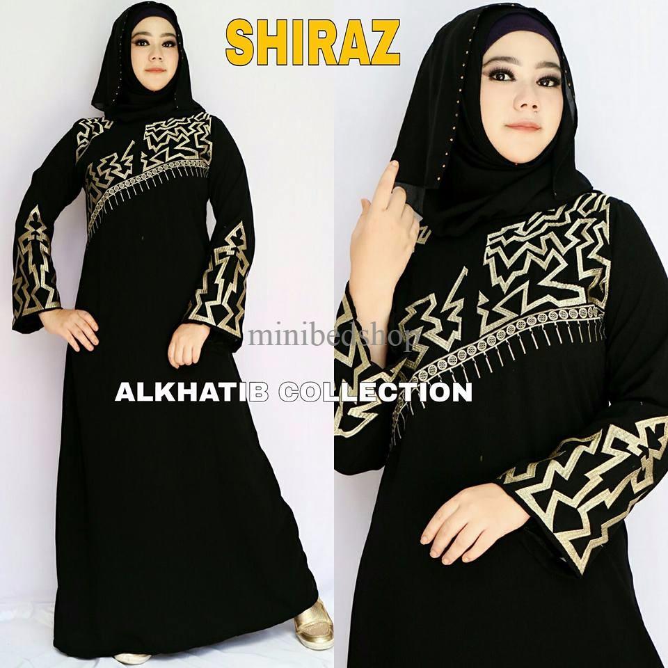 Abaya Motif Shiraz / Abaya Arab / Baju Muslim / Baju Muslimah