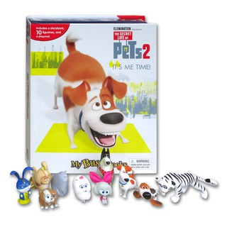 (HB) My Busy Book The Secret Life of Pets 2 includes a Storybook, 10 Disney Figurines and a Giant