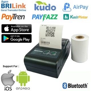 PRINTER THERMAL MINI BLUETOOTH PORTABLE DENGAN BATERAI 58MM