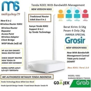 TENDA N301 7 in 1 Router WR840N WR820N RE840N WN845N