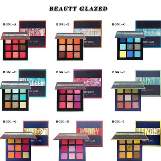 [Bayar Di Tempat] Beauty glazed Palet Eyeshadow 9 Warna Glitter Metalik Matte Pigmented