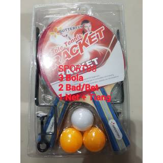 BET BUTTERFLY TENIS MEJA / BAD / BED / BAT PINGPONG BUTTERFLY FULL SET