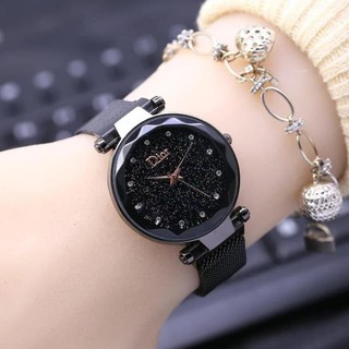 FREE BATERAI 2 PCS DW-02 Dior Jam Tangan Analog Digital Stainless Steel Magnet Watch