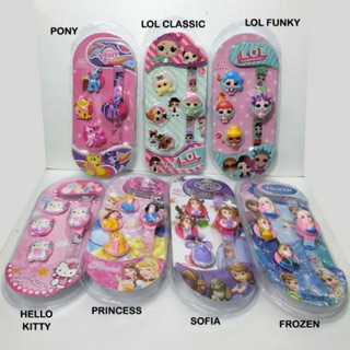 Jam Tangan 4 in 1 GANTI KEPALA Karakter LOL Hello Kitty Little Pony Spiderman Cars Unicorn Avengers