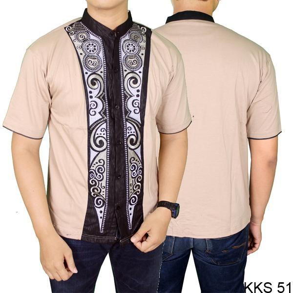 RAMADHAN SALE Baju Koko Modern Muslim Pria Katun Krem – KKS 51