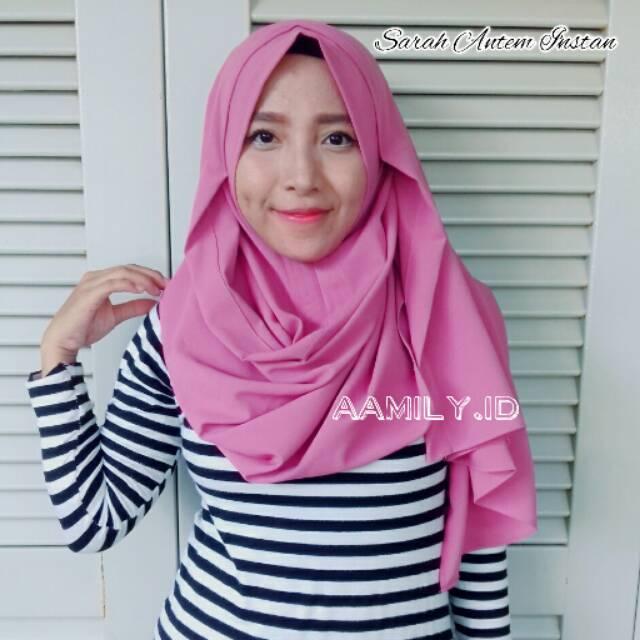 Sarah antem hijab instan