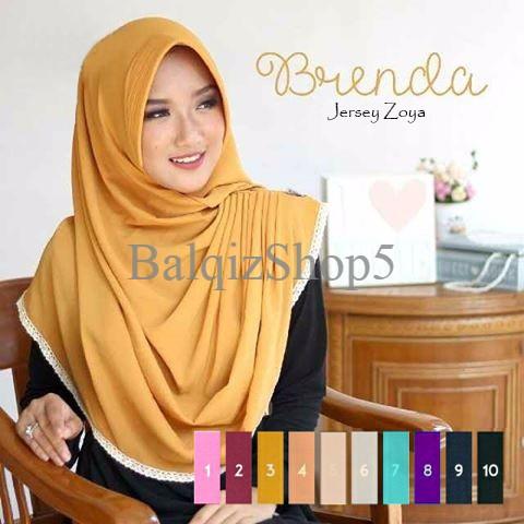 Harga Turun Kerudung/Jilbab Instant Brenda Premium