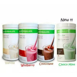 Herbalife Nutritional Shake Mix, Vanilla, Coklat, Berry,ChocoMint,