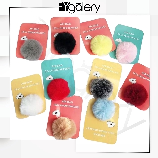 FYGALERY POP SOCKET WARNA 3D POMPOM POP SOCKET BULU AKSESORIS HP MURAH BATAM POP SOCKET IMPORT