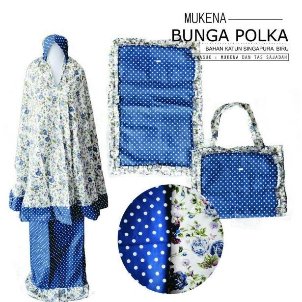 MUKENA BAGUS | Mukena Bunga Polkadot/Mukena Motif Bunga  M2MH4