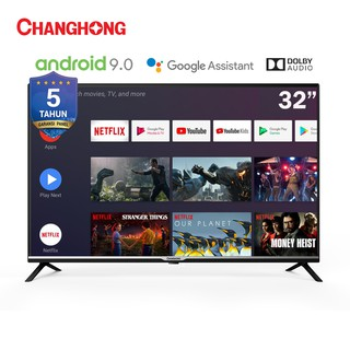 Changhong Google certified Android Smart TV 32 Inch Digital TV Neflix LED TV-L32H4-Garansi 5 Resmi #0