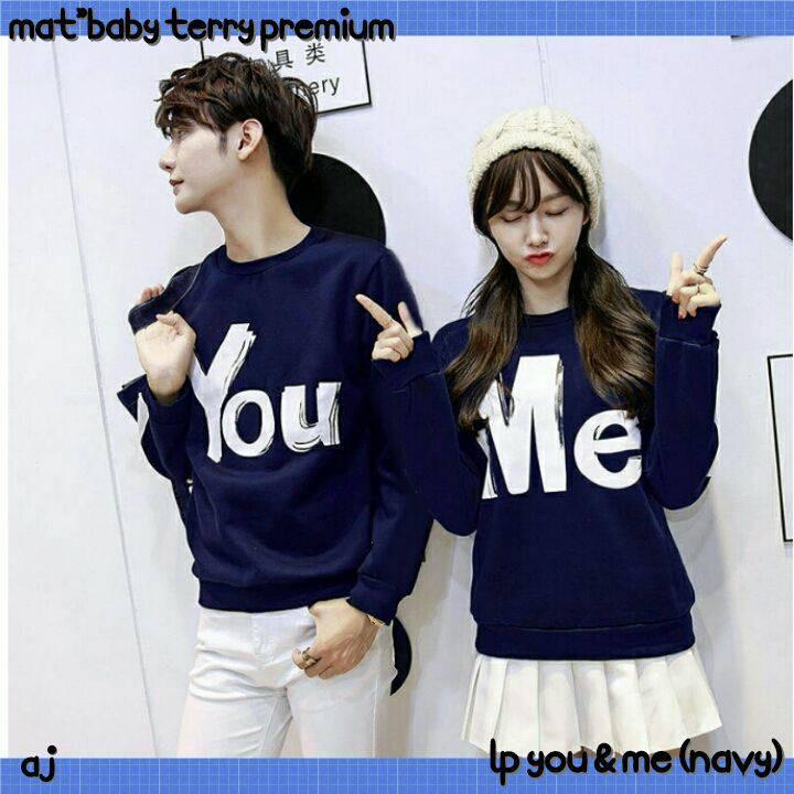 FD3795 sweater couple sweater pasangan you me sweater pria sweater wanita