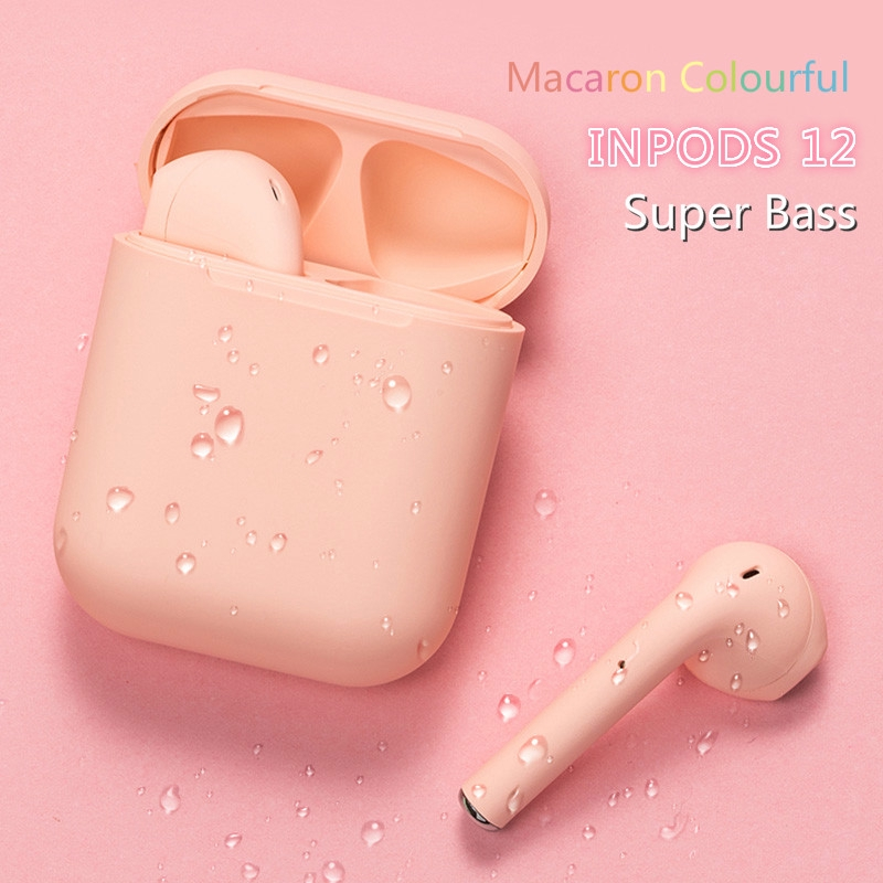 HOCO i12 TWS Earphone Wireless Bluetooth HiFi Warna Warni untuk Olahraga
