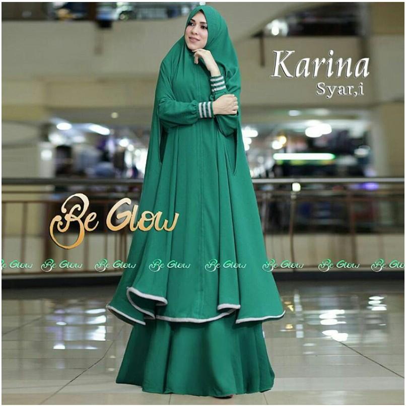 REAL PICT/TERLARIS !!! Baju gamis/Baju muslim / Maxi/dress KARINA SYARI'I