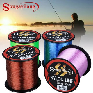 Sougayilang Super Strong Nylone Line 500M Nylon Fishing Lines11-36.3LB Senar Pancing Fishing gear