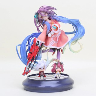 Import Anime Life No Game No Life 2 Shiro Game of Life angel Jibril Scale Painted 1/7 scale PVC
