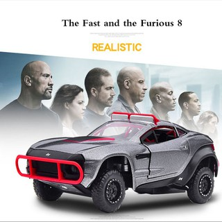 Diecast Mobil Fast and Furious F8 Rally flghter Skala 1: 32 Bahan Metal Alloy