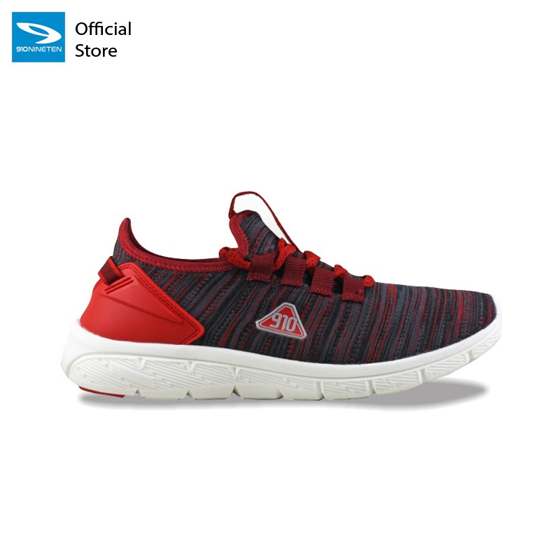 910 Nineten AMARU  Sepatu Runing Unisex Merah-Marun/Putih