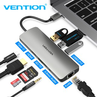 Vention Active Type C Hub Converter USB C to USB 3.0/HDMI/RJ45 Adapter For Macbook Pro 2016 /2018