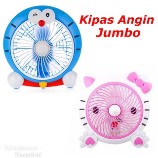 Kipas Angin JUMBO ORIGINAL Karakter Hello Kitty Doraemon Lucu Cute / Fan Besar Helo Kity