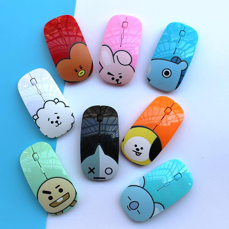 KPOP BTS bt21 Mouse Wireless Bluetooth untuk PC / Laptop / Desktop