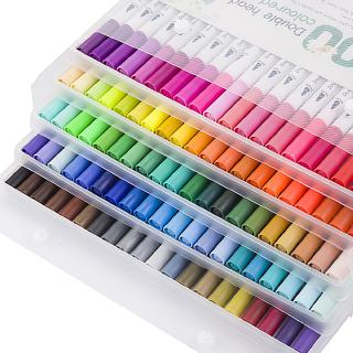 12/24/36/48/60 Colors Set Watercolour Brush Art Markers Pens Colouring Pen Fineliner