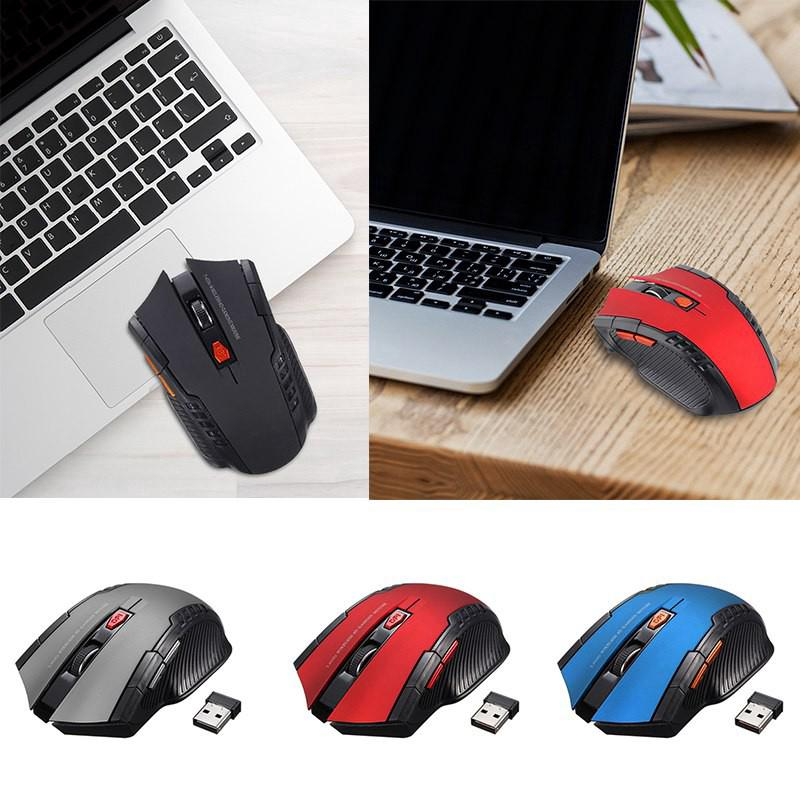 [Bayar di Tempat] ✔W4 Mini 2.4GHz 1600DPI Wireless Optical Gaming Mouse with Receiver for PC Laptop