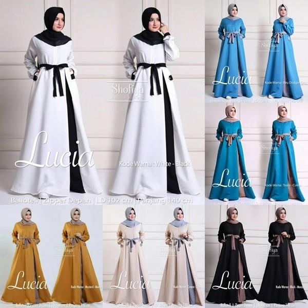 Baju Gamis Baloteli Modern Muslim Wanita Longdress Maxi LUCIA