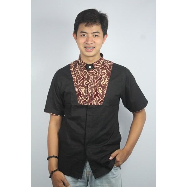 TERKEREN,BAJU MUSLIM Baju koko batik kualitas premium kode tn 33 hitam