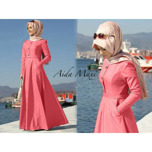 PRODUK LARIS Maxi hijab denim super aida maxi saku kcg (salem) M