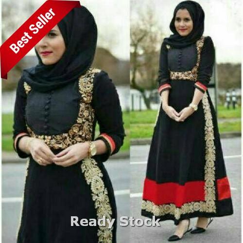Hijab Maxi Jersey Manila Black Termurah