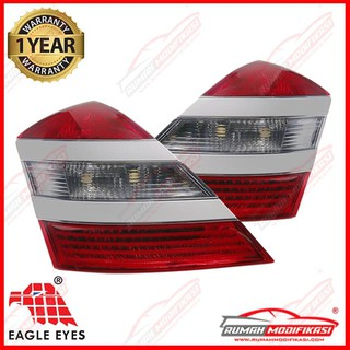 STOP LAMP MERCEDES BENZ S CLASS W221 2007 2013 RED CLEAR WHITE