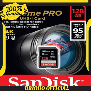 HARGA MIRING SD Card SANDISK SDXC 128GB EXTREME PRO UP TO 95MB/S - Class 10