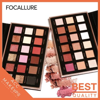 [ Official Distributor ] Focallure 18 Colors Eyeshadow Palette Bright Lux&Neturals&Twilight&Tropical