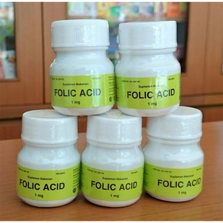 Asam Folat Folic Acid 1 mg per Botol isi 100 Tablet