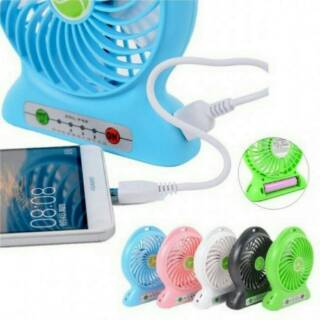 Kipas Angin USB + Powerbank / Kipas Portable Cooling Fan Surabaya