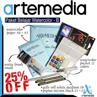 Paket Belajar Watercolor - B